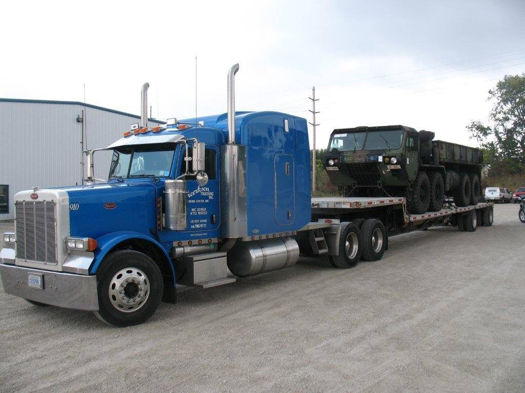 Truck 910 with Army Truck
